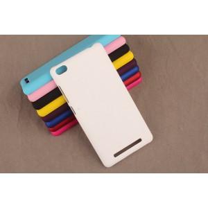 Пластиковый матовый непрозрачный чехол для Xiaomi RedMi 3 Белый