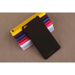 Пластиковый матовый непрозрачный чехол для Xiaomi RedMi 3 Черный