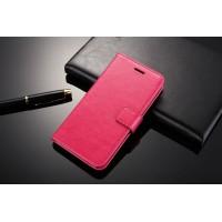 Глянцевый чехол портмоне подставка с защелкой для Xiaomi RedMi 3 Розовый