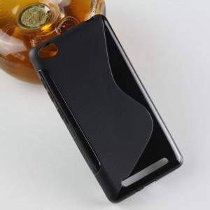 Силиконовый S чехол для Xiaomi RedMi 3 Черный