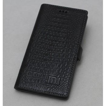 Кожаный чехол горизонтальная книжка подставка (нат. кожа крокодила) для Xiaomi RedMi 3