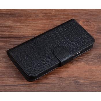 Кожаный чехол портмоне (нат. кожа крокодила) для Xiaomi RedMi 3