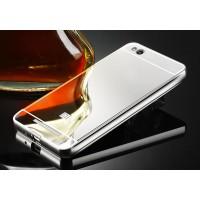 Гибридный металлический двухкомпонентный чехол с поликарбонатной крышкой с зеркальным покрытием для Xiaomi RedMi 3 Белый