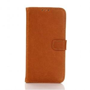 Винтажный чехол портмоне подставка с защелкой для LG K10 Бежевый