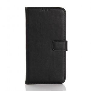 Винтажный чехол портмоне подставка с защелкой для LG K10 Черный