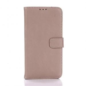 Винтажный чехол портмоне подставка с защелкой для LG K10 Белый