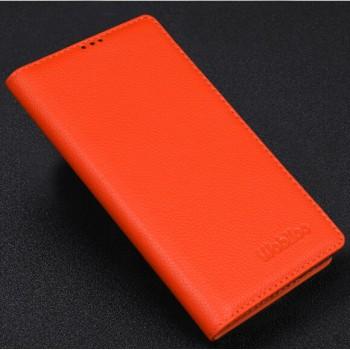 Кожаный чехол портмоне подставка (нат. кожа) для Philips i928