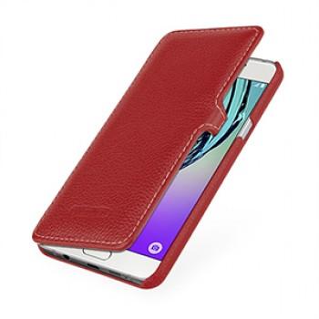 Кожаный чехол горизонтальная книжка (нат. кожа) с крепежной застежкой для Samsung Galaxy A5 (2016)