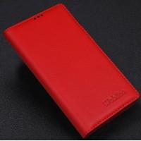 Кожаный чехол портмоне подставка (нат. кожа) для Philips i928 Красный