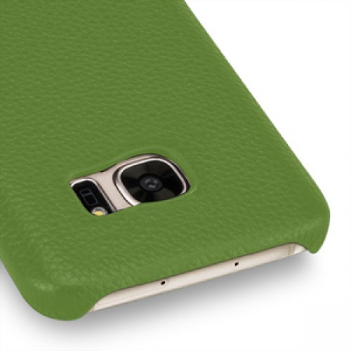 Кожаный чехол накладка (нат. кожа) для Samsung Galaxy S7