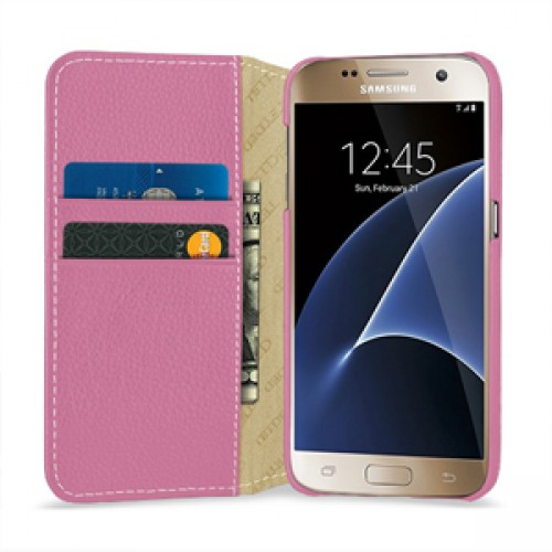 Кожаный чехол портмоне (нат. кожа) для Samsung Galaxy S7