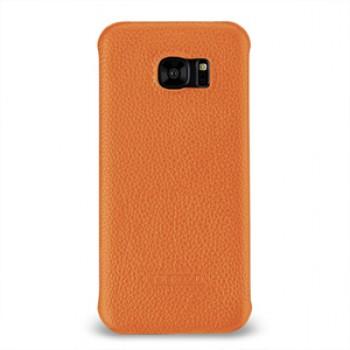 Кожаный чехол накладка (нат. кожа) для Samsung Galaxy S7 Edge