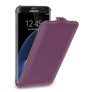 Кожаный чехол вертикальная книжка (нат. кожа) для Samsung Galaxy S7 Edge