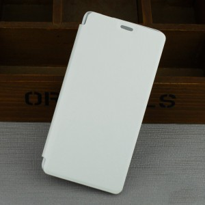 Чехол флип подставка на пластиковой основе для Samsung Galaxy J3 (2016) Белый