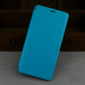 Чехол флип подставка на пластиковой основе для Samsung Galaxy J3 (2016) Голубой