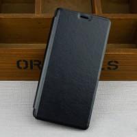 Чехол флип подставка на пластиковой основе для Samsung Galaxy J3 (2016) Черный