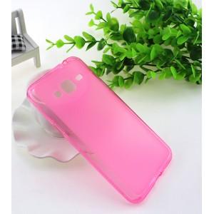 Силиконовый матовый полупрозрачный чехол для Samsung Galaxy J3 (2016) Розовый