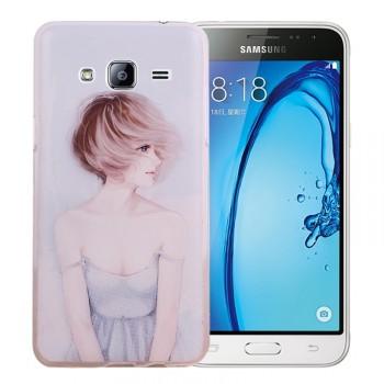 Силиконовый матовый дизайнерский чехол с эксклюзивной серией принтов для Samsung Galaxy J3 (2016)
