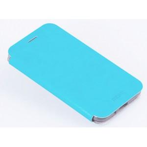 Водоотталкивающий чехол флип подставка на силиконовой основе для Samsung Galaxy J3 (2016) Голубой