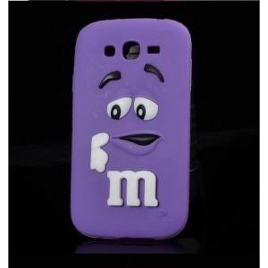 Силиконовый дизайнерский фигурный чехол для Samsung Galaxy J3 (2016) Фиолетовый
