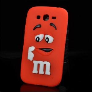 Силиконовый дизайнерский фигурный чехол для Samsung Galaxy J3 (2016) Красный