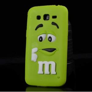 Силиконовый дизайнерский фигурный чехол для Samsung Galaxy J3 (2016) Зеленый