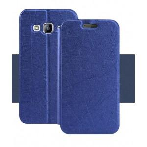 Текстурный чехол подставка на силиконовой основе для Samsung Galaxy J3 (2016) Синий