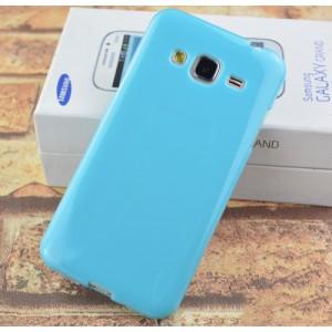 Силиконовый непрозрачный чехол для Samsung Galaxy J3 (2016) Голубой