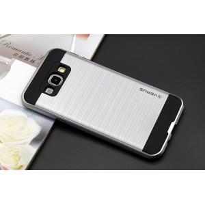 Силиконовый матовый непрозрачный чехол с поликарбонатной крышкой для Samsung Galaxy J3 (2016) Белый