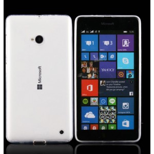 Силиконовый транспарентный чехол для Microsoft Lumia 640