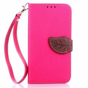 Текстурный чехол портмоне подставка на силиконовой основе с дизайнерской застежкой для Microsoft Lumia 640 Розовый