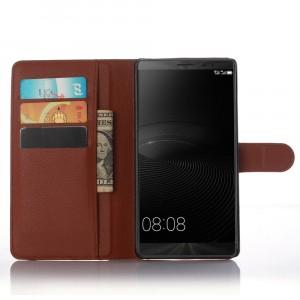 Чехол портмоне подставка с защелкой для Huawei Mate 8 Коричневый