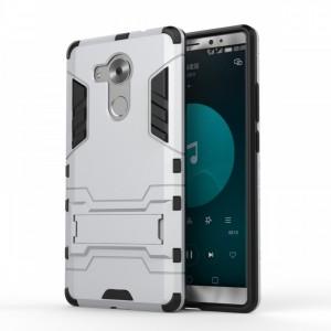 Двухкомпонентный силиконовый чехол с пластиковым бампером и подставкой для Huawei Mate 8