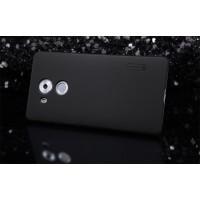 Пластиковый матовый нескользящий премиум чехол для Huawei Mate 8 Черный