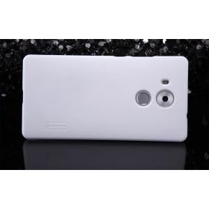 Пластиковый матовый нескользящий премиум чехол для Huawei Mate 8 Белый