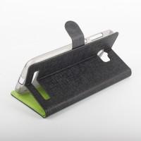 Текстурный чехол портмоне подставка на силиконовой основе с магнитной защелкой для ASUS ZenFone Max Черный