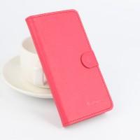 Текстурный чехол портмоне подставка на силиконовой основе с магнитной защелкой для ASUS ZenFone Max Красный