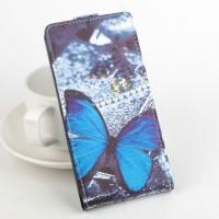 Чехол вертикальная книжка на силиконовой основе с полноповерхностным принтом и магнитной застежкой для ASUS ZenFone Max