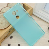 Силиконовый матовый полупрозрачный чехол для Huawei Mate 8 Голубой