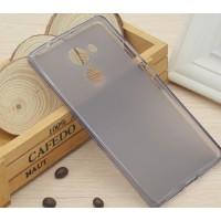 Силиконовый матовый полупрозрачный чехол для Huawei Mate 8 Серый