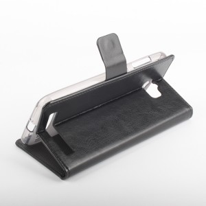 Глянцевый чехол портмоне подставка на силиконовой основе с магнитной защелкой для ASUS ZenFone Max