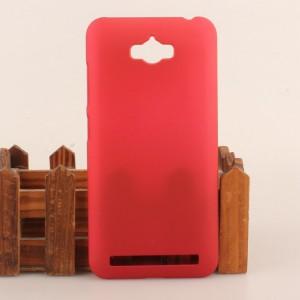 Пластиковый матовый непрозрачный чехол для ASUS ZenFone Max Красный