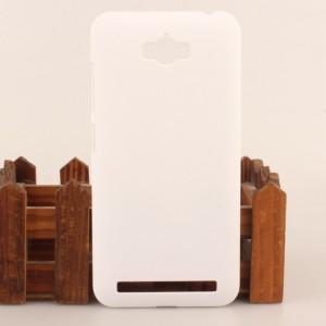 Пластиковый матовый непрозрачный чехол для ASUS ZenFone Max Белый