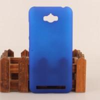 Пластиковый матовый непрозрачный чехол для ASUS ZenFone Max Синий