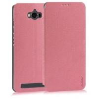 Текстурный чехол флип подставка на пластиковой основе с присоской для ASUS ZenFone Max Розовый
