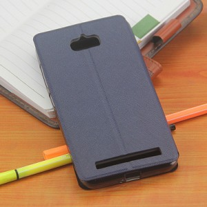 Чехол флип подставка на силиконовой основе с окном вызова и свайпом для ASUS ZenFone Max