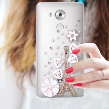 Дизайнерский пластиковый полупрозрачный чехол с аппликацией ручной работы для Huawei Mate 8