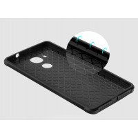 Силиконовый дизайнерский чехол текстура Дракон для Huawei Mate 8 Черный