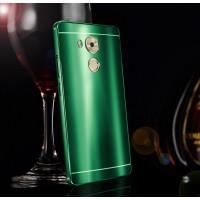 Двухкомпонентный чехол с металлическим бампером и акриловой градиентной премиум накладкой для Huawei Mate 8 Зеленый