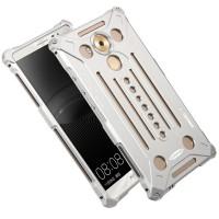 Цельнометаллический противоударный металлический чехол из авиационного алюминия на винтах с мягкой внутренней защитной прослойкой для гаджета с прямым доступом к разъемам для Huawei Mate 8 Белый